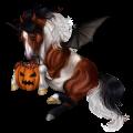 Pony-pegasus Welsh Zwart