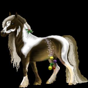 Ponny Fjording Vitblack