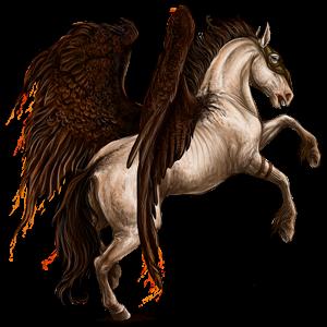 Ridepegasus Mustang Cremello