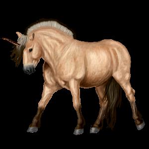 Pony-eenhoorn Fjord Brunblakk