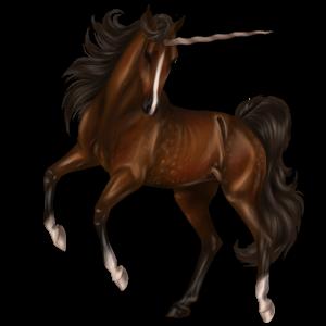 Jednorożec wierzchowy Mustang Brudnokasztanowata