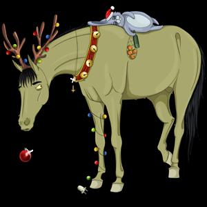 Licorne de selle Hanovrien Gris Pommelé
