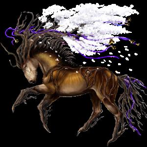 Riding unicorn Holsteiner Dark Bay