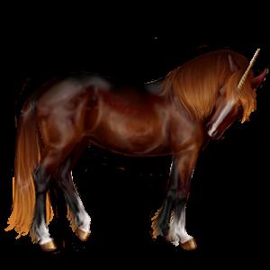 Riding unicorn Quarter Horse Flaxen Chestnut