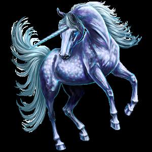 Riding unicorn Quarter Horse Light Gray