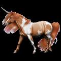 Riding unicorn Chestnut Tobiano