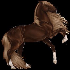 Pegasus Frieserhest Svart