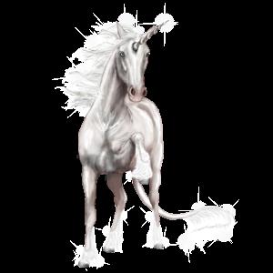 Riding unicorn Quarter Horse Cremello