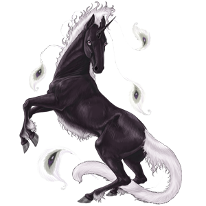 Riding unicorn Thoroughbred Cherry bay