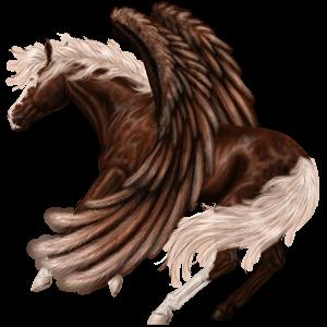 Riding pegasus Arabian Horse Flaxen Liver chestnut