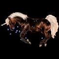 Riding unicorn Purebred Spanish Horse Cherry bay