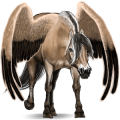 Pegaz wierzchowy Koń fryzyjski Kara