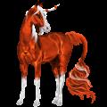 Riding unicorn Roan