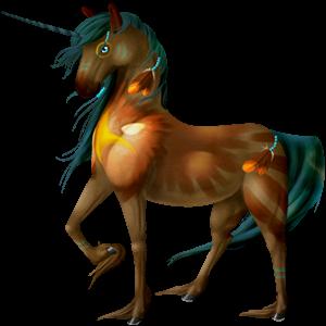 Riding unicorn Thoroughbred Dark Bay