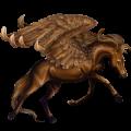Pegaz wierzchowy Koń czystej krwi arabskiej Ciemnokasztanowata