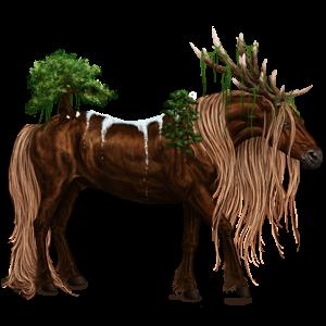 Rijpaard-eenhoorn Mustang Cremello