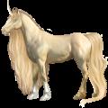 Riding unicorn Arabian Horse Dun