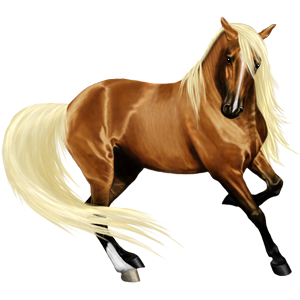 Riding pegasus Quarter Horse Flaxen Chestnut