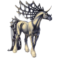Unicornio Pura raza española Bayo cereza