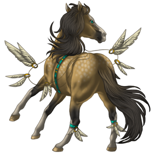 Riding pegasus Paint Horse Cherry bay Tobiano