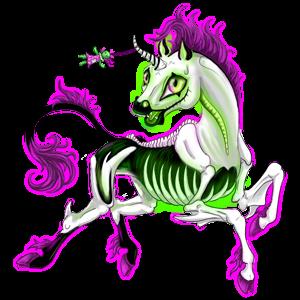 Riding unicorn Mustang Black