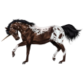Riding unicorn Appaloosa Bay Spotted Blanket