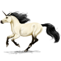 Riding unicorn Dapple Gray
