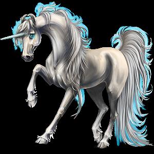 Riding unicorn Arabian Horse Light Gray