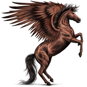 Pegaz Koń luzytański Kasztanowata