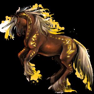 Riding unicorn Curly Chestnut