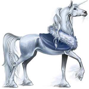 Riding unicorn Arabian Horse Light Gray