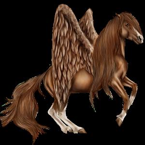 Pegas Hannoverský kôň svetlošedý