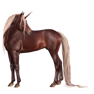 Riding unicorn Tennessee Walker Dun