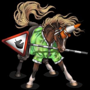 Riding unicorn Mustang Dark Bay