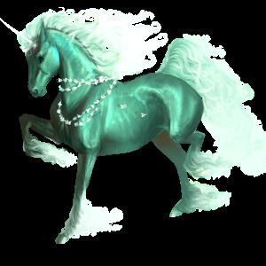 Riding unicorn Purebred Spanish Horse Light Grey