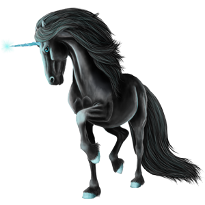 Riding unicorn Vanner Chestnut Tobiano