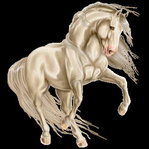 Pegaz wierzchowy Koń luzytański Cremello
