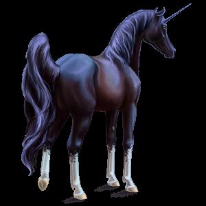 Riding unicorn Thoroughbred Dapple Grey