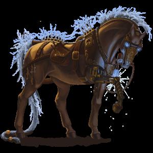 Кон за езда Чистокръвен испански Мишо сив