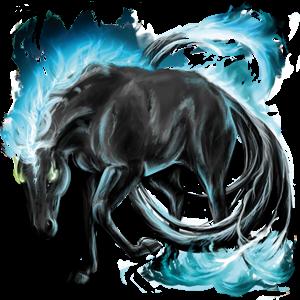 Верховая лошадь Арабская Чистокровная Огненно-рыжая с лавовой гривой