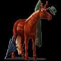 Riding unicorn Arabian Horse Bay