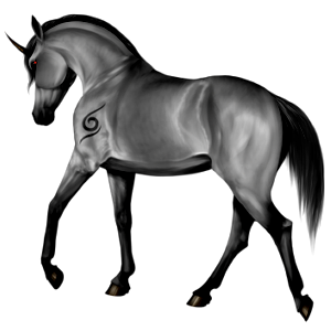 Riding unicorn Akhal-Teke Dapple Gray