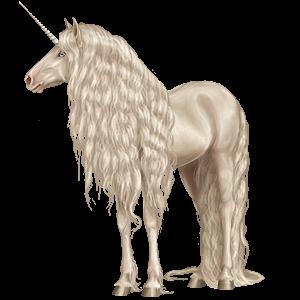 Верховой единорог Лошадь лузитанской породы Кремелло