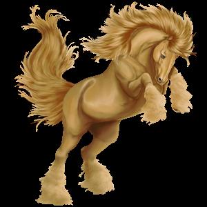 Pegasus-Reitpferd Irisches Sportpferd Palomino