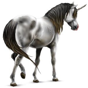 Riding unicorn Hanoverian Light Gray