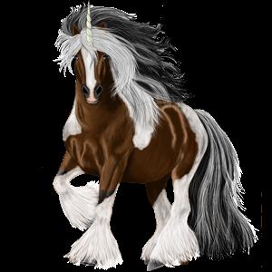 Riding unicorn Holsteiner Dapple Gray