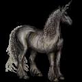 Riding unicorn Lusitano Black