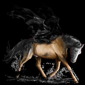 Ridepegasus Mustang Musegrå