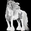 Unicornio Berberisco Gris claro