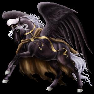 Pegaz wierzchowy Koń luzytański Izabelowata